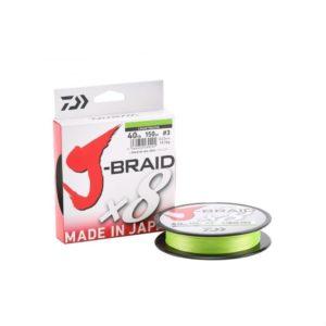 Daiwa J-Braid 8 Braid 300m Chartreuse