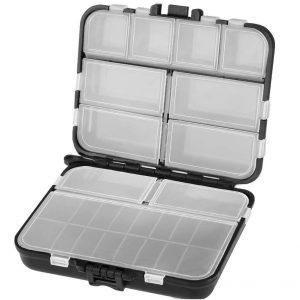 VORCOOL Fishing Tackle Box, Kunststoff Angelkasten Professionelle Angel Zubehör Aufbewahrungsbox