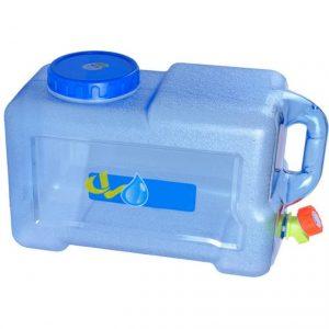 12L Wasserkanister mit festmontiertem Ablasshahn/Wasser Behälter PE