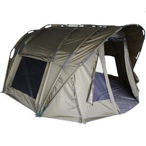 MK-Angelsport Fort Knox Air 3,5 Personen Karpfenzelt Dome Innenhöhe 1.75m Zelt Anglerzelt Angelzelt incl. Gummihammer