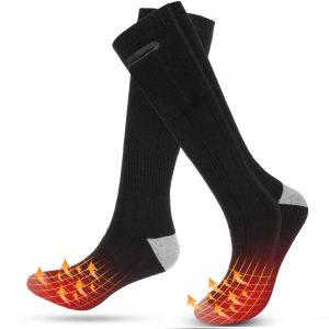 Roeam Heizsocken Fußwärmer Elektrisch Wiederaufladbare wasserdichte Socken